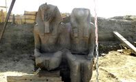 ANOTHER gigantic statue of Pharaoh Amenhotep III was unearthed late last week on Luxor's west bank.