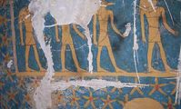 A painted burial chamber of the 25th Dynasty priest Karakhamun