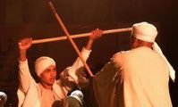Mallawi Stick Dancing Band during their performance in Art Beat Festival.