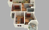 Apartment: Three bedroomed apartment. (AP4186)