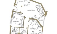 Apartment: First type- two bedroomed apartment (AP4155)